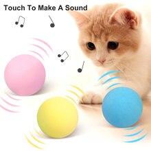 Jouets interactifs pour chat, boule sonore intelligente, fournitures d'entraînement pour animaux de compagnie, Simulation de couineur, jouet pour chaton