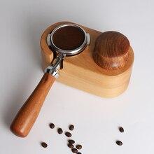 Espresso Tamper Stand Coffee-Accessories Barista-Powder Wood Base 51/58mm Mat