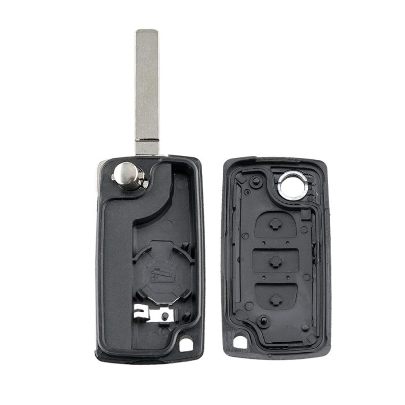 Fob-Case Remote-Key Flip Picasso-Key 3-Button Citroen C2 Protective-Cover Battery-Holder title=