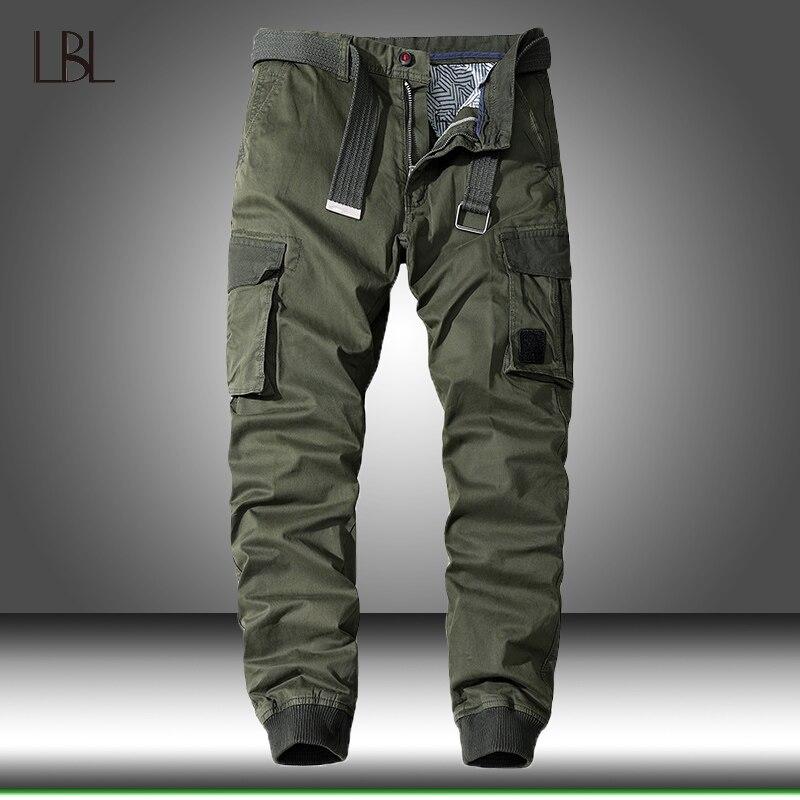 Multi-Tasche Casual Hosen Männer Military Tactical Jogger Cargo Hosen herren Outdoor Wandern Trekking Jogginghose Männlichen Hip Hop boden