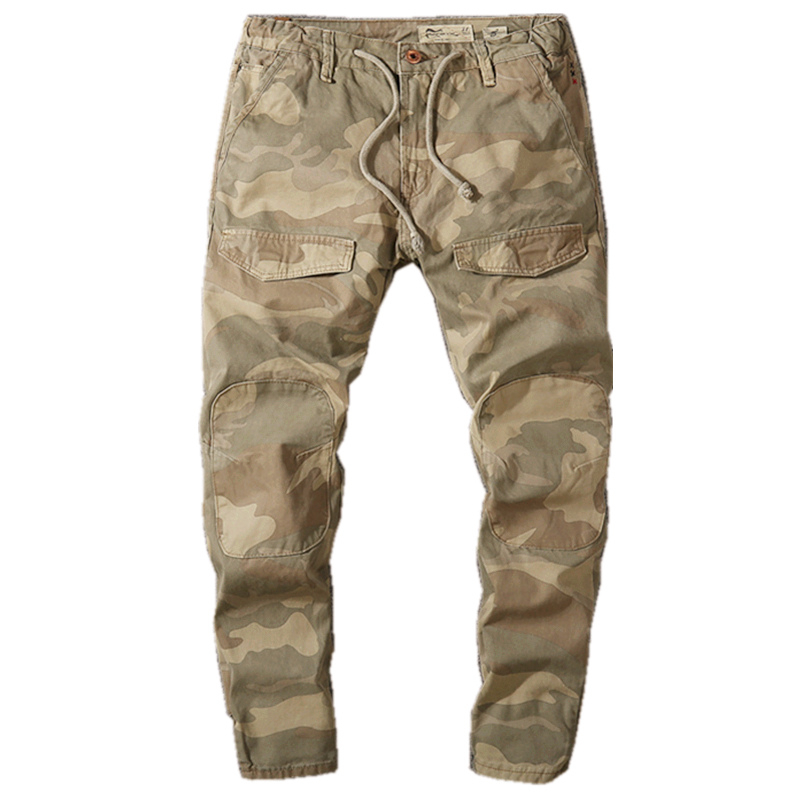 Spring Military Style Men Jogger Pants Male Camouflage Slim Fit Joggers Autumn Cargo Pants Men Hip Hop Streetwear Trousers X9181