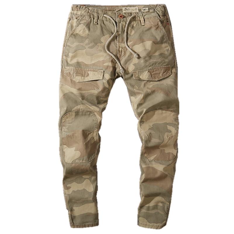 Spring Military Style Men Jogger Pants Male Camouflage Slim Fit Joggers Autumn Cargo Pants Men Hip Hop Streetwear Trousers X9181