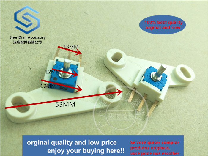 1pcss 100% New And Orginal TOCOS RVQ121 12V 502 5K PPS-GF40 360r Ceramic Potentiometer With Plate