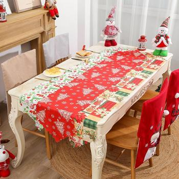 Christmas Decoration Luxury Table Runner American Placemats Grey Camino De Mesa Party Home Dining Wedding Table Decor Tablecloth image