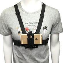 Suporte de celular ajustável para câmera, prendedor de peito para câmera de ação, cinta para xiaomi iphone 2020