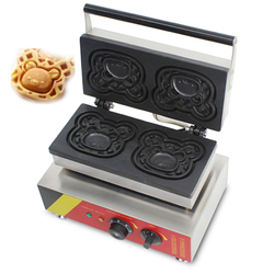 220V/110V commercial cute bear japanese waffle machine stainless steel street electric waffle maker waffles making machine hot