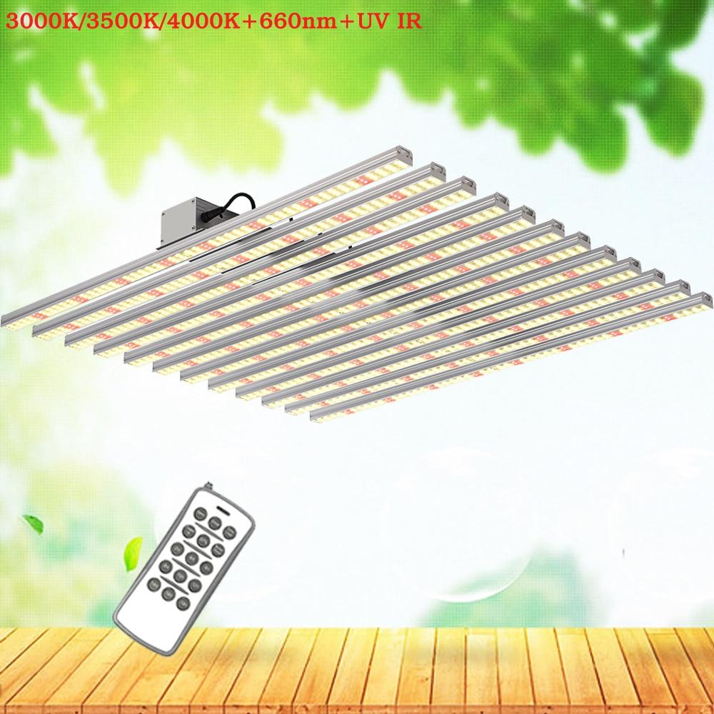 Led Grow Light Bars 1000W 1500W Samsung LM301B Chips Quantum Technology Full Spectrum 3000K 660nm For Greenhouse Veg And Flower