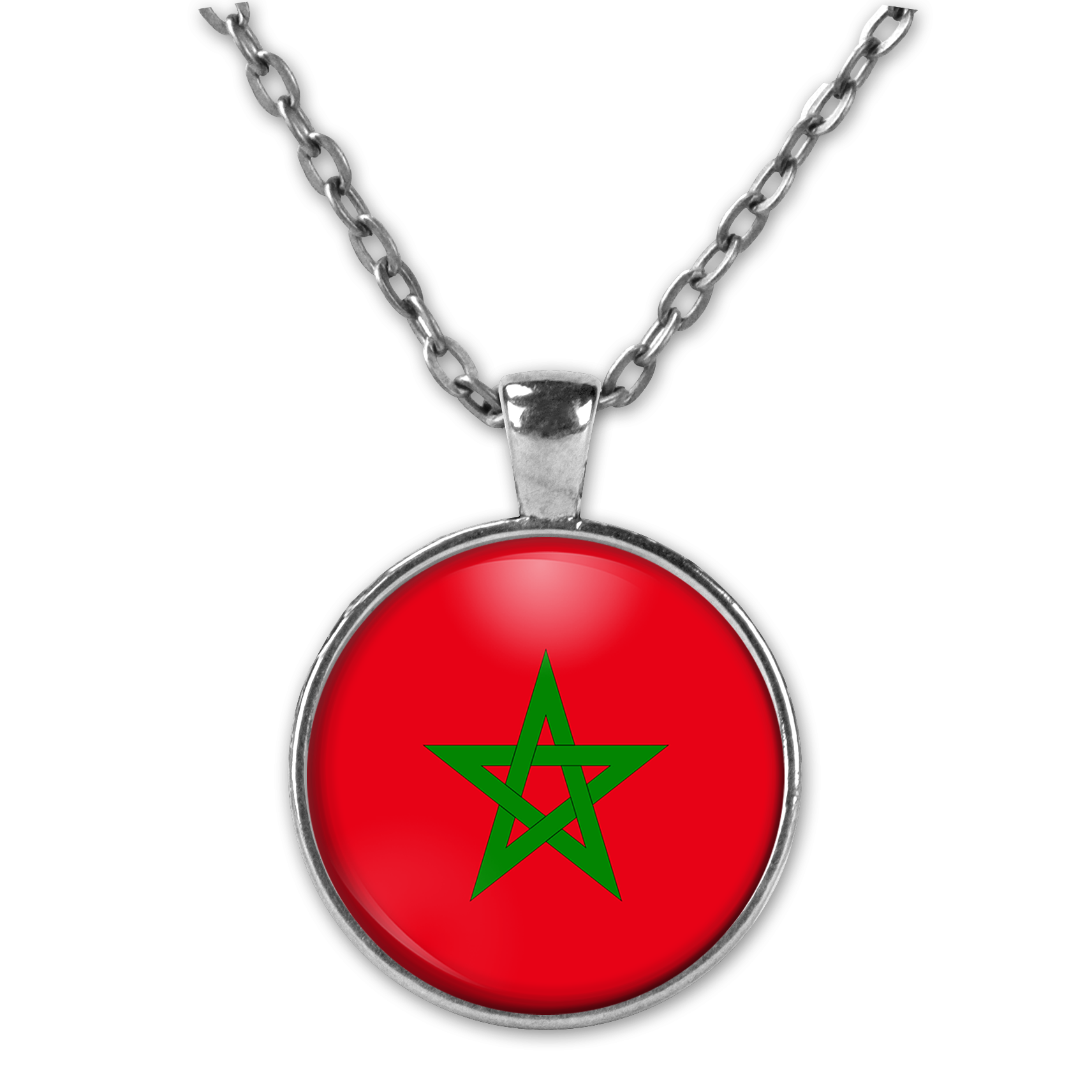 Maroc Personalised Hình Vòng Cổ Nữ Hình Trang Sức dây chuyền mặt dây chuyền Vòng Cổ Nam Đài Tưởng Niệm Ảnh Quà Tặng