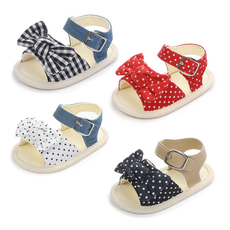 Summer Baby Girl Soft Sole Shoes Cute Bowknot Sandals Toddler Infant Prewalkers Baby Sandals
