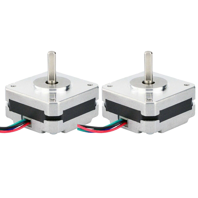 2Pcs 17Hs08 1004S 4 להוביל Nema 17 מנוע צעד 20mm 1A 13Ncm(18.4Oz. ב) 42 מנוע Nema17 צעד עבור Diy 3D מדפסת Cnc Xyz