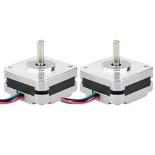 2Pcs 17Hs08 1004S 4 리드 Nema 17 스테퍼 모터 20mm 1A 13Ncm(18.4Oz.In) 42 모터 Nema17 스테퍼 Diy 3D 프린터 용 Cnc Xyz