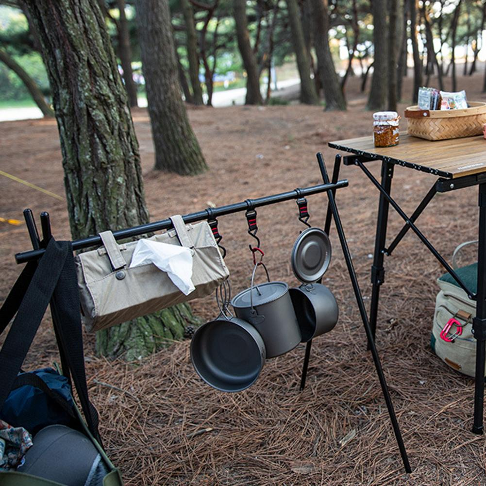 Drying Holder Rack Outdoor Camping Shelf Triangle Carrying Daily Family Plant Hanger 95.5*57* 106CM Drying Rack