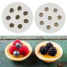 3d framboesa blueberry forma molde de silicone sugarcraft ferramenta de cozimento bolo de decoração ferramentas de bolo de chocolate pastelaria ferramenta