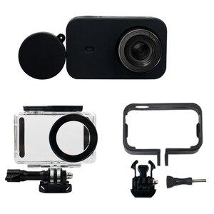 Image 1 - RISE Kit daccessoires pour appareil photo 6 en 1 boîtier étanche + cadre de protection latérale + coque en Silicone + étui de protection dobjectif pour x iao mi Jia Mi ni 4K