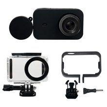 Rise 6 In 1 Camera Accessoires Kit Waterdichte Case + Side Bescherm Frame + Siliconen Case + Lens Cover case Voor X Iao Mi Mi Jia Mi Ni 4K
