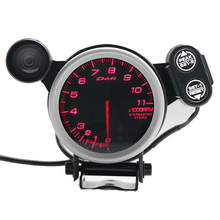 Car modification def 3.75 inch 80 mm 7 color 0-11000 rpm / stepper motor tachometer with automatic shift lamp