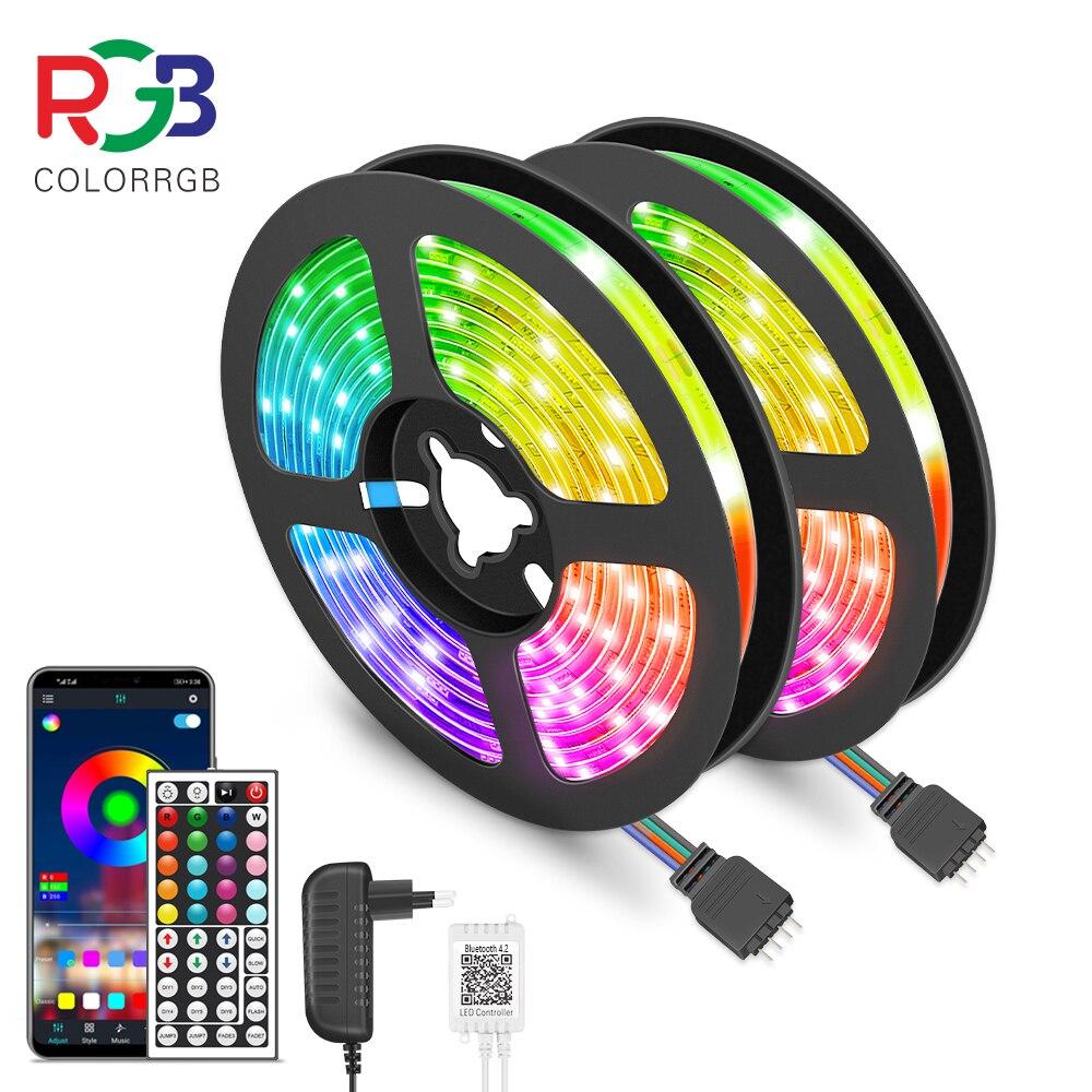 LED Strip Light RGB 5050 Flexible Ribbon fita led light strip RGB 5M 10M Tape Diode DC 12V+ Remote Control +Adapter