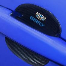 4 stücke Carbon Faser Auto Türgriff Scratch Protector Aufkleber Für GEELY CK emgrand ec7 gt gc9 GL GS Auto zubehör