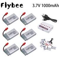 Batteria Lipo 3.7V 1000mAh 102542 per Syma X5HC X5HW X5UW X5UC RC Quadcopter batteria con caricatore Drone pezzo di ricambio