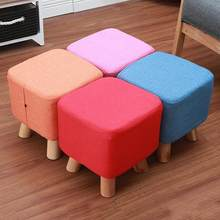 Solid Small Stool Wooden Mini Stools for Living Room Bench Kindergarten Footstool Seat Ottomans for Kids Home Furniture(China)