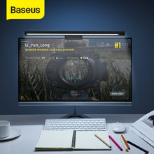 Baseus-Lámpara Led de escritorio para lectura, luz colgante de pantalla en color negro, asimétrica con USB, para ordenador