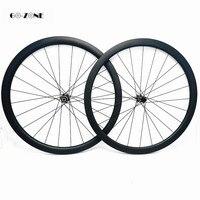 도로 자전거 wheelset 50x25mm clincher 또는 관형 디스크 탄소 도로 바퀴 100x12 142x12 또는 QR rodas carbono 700c 기둥 1423 스포크