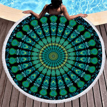 Mandala Round Beach Towel Microfiber Fabric Bath 150cm Size Hot Sale many color