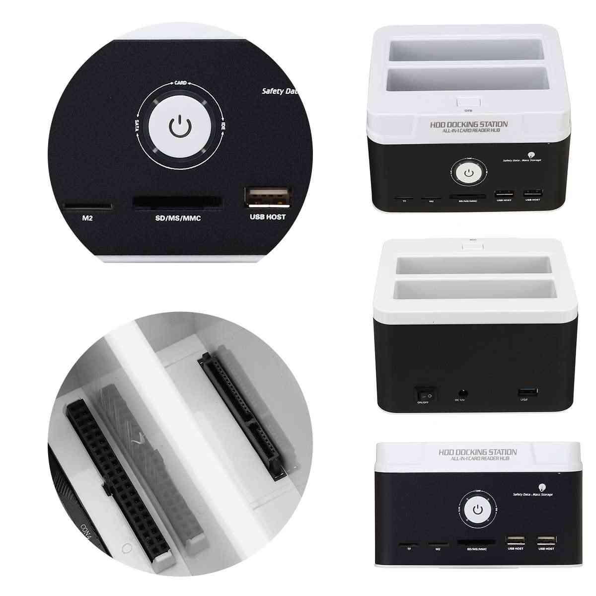 כל אחד HDD תחנת עגינה עבור 2.5 אינץ 3.5 אינץ IDE/SATA USB 3.0 Dual HDD מארז פנימי דיסק קשיח כונן מרובה מפרץ