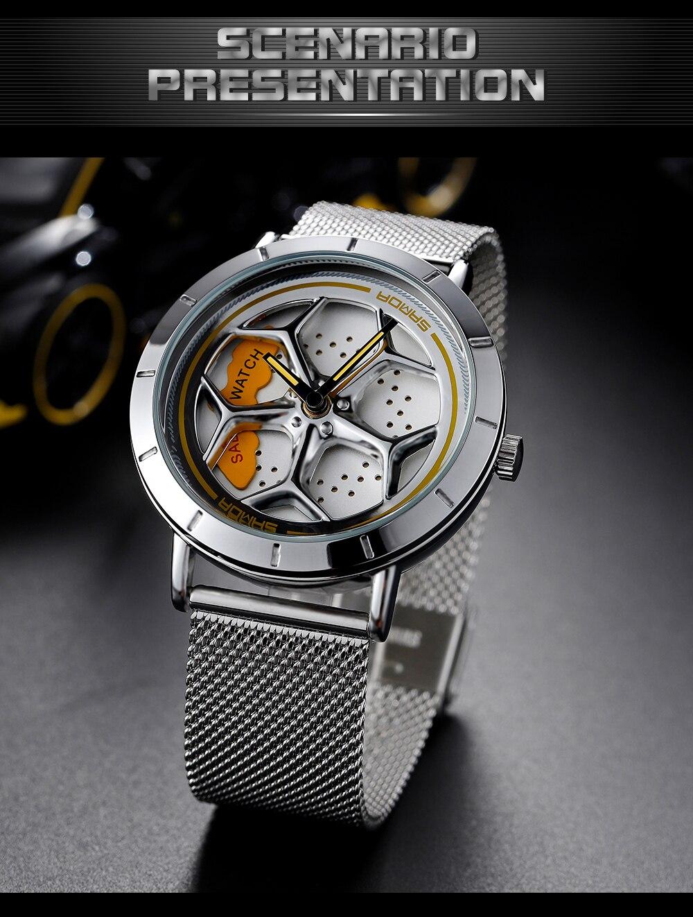 Hffac14fd02ab49d5af754b620fa20b28j Men's Watch 360 Degree Wheel Rotation Creative Quartz