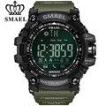 Мужские спортивные часы с хронографом SMAEL  армейские многофункциональные водонепроницаемые цифровые часы  светодиодный хронограф