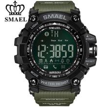 SMAEL erkek Chronograph saatler spor erkek saat durma ordu askeri izle erkekler çok fonksiyonlu su geçirmez LED dijital saat adam için