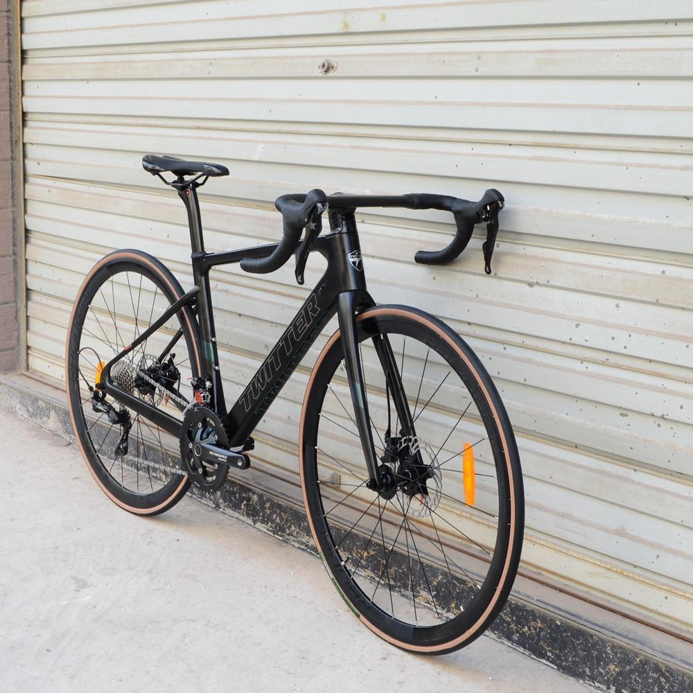 TWITTER, 22 скорости, дорожный велосипед, карбоновая рама, внутренняя маршрутизация для SHIMANO 105 R7000, трос переключателя передач, гидравлический ди...