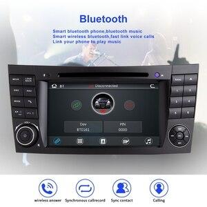 Image 2 - ZLTOOPAI سيارة مشغل وسائط متعددة السيارات مشغل ديفيدي لمرسيدس بنز E Class W211 E300 CLK W209 CLS W219 راديو تلقائي لتحديد المواقع ستيريو 2 الدين