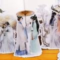 12 шт. милые наклейки в старинном стиле для подростков аниме-фигурки украшения красивые полупрозрачные красивые аксессуары для украшения уч...