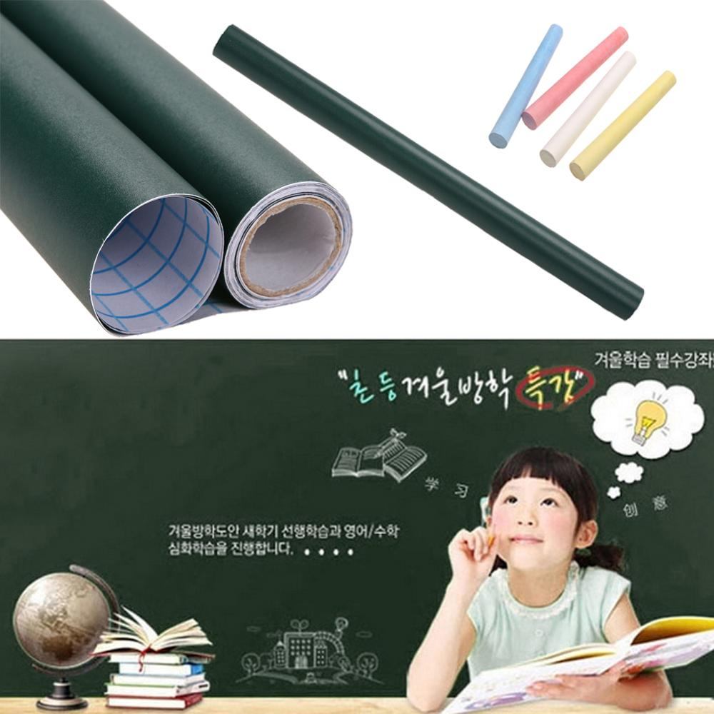45*100cm PVC Waterproof Blackboard Sticker Movable Smooth Graffiti Writing Board Paster Pizarra Family Classroom Teaching Aids