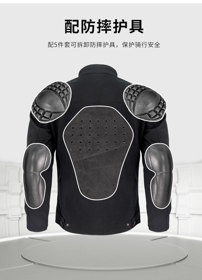 Hommes Moto Veste Résistant À L'eau Respirant Chaud Universel Manteau avec Équipement De Protection Pour L'équitation et le Port Quotidien JK 55 - 5