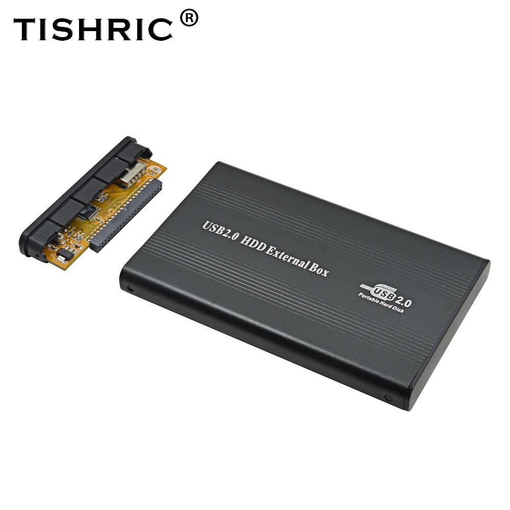 TISHRIC  2.5''  Hard Disk Enclosure Case Drive IDE To USB 2.0 Adapter Case HDD External Enclosure For PC Laptop Optibay