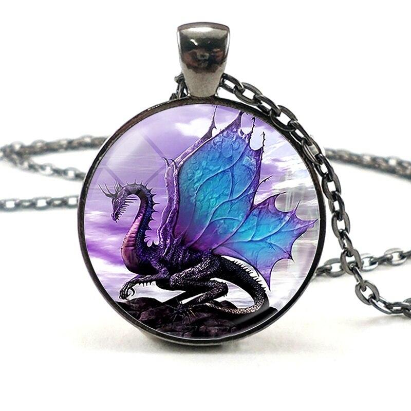 Dragon collier ailes Dragon bijoux Punk noir collier pendentif unisexe mode accessoires mal Dragon collier pour femmes hommes