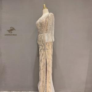Image 4 - Elmas boncuk kolsuz Mermaid resmi elbise 2020 yeni dubai akşam elbise