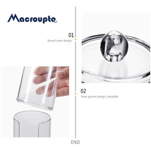 Image 5 - Acrylic Round Qtip Container Cosmetic Makeup Cotton  Multifunctional  Pad Organizer Jewelry Storage Box Holder and Candy Jars