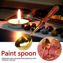 Spoon Tool Stove Pot For Wax Seal Stamp Candle/Anti Stamp Sealing Wax Spoon Beads Sticks Warmer Wax Sticks Melting Glue Furnace red anti hot wax melt spoon
