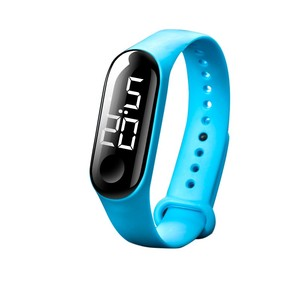 Men Women Casual Sports Watch LED Electronic Sports Luminous Sensor Wristwatch Candy Color Silicone Watches for Children Kids