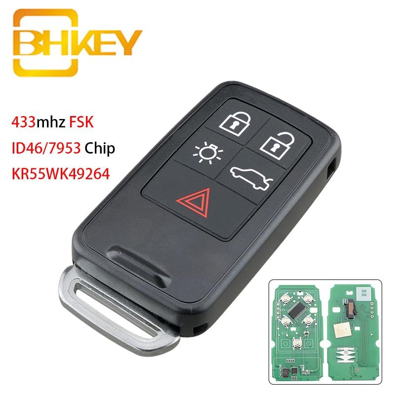 Дистанционный ключ для Volvo автомобильный смарт ключ-брелок KR55WK49264 для Volvo XC60 S60 S60L V40 V60 S80 XC70 KYDZ ID46/7953 чип 433 МГц