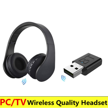 New TV Wireless Headphone Home theater headset with Microphone Computer TV PC Pad Phone MP3 music headphones Support radio fm new headband bluetooth headphone with microphone memory card slot fm led display headset for computer phone wireless auriculares