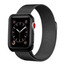 цена на watch case+strap for apple watch band 38mm 42mm 44mm 40mm iwatch belt 4/3/2/1 milanese loop Magnetic bracelet&Protector cover