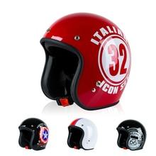 Casco de motocicleta Retro Vintage para hombres y mujeres, diseño de máscara abierta, motocicleta clásica, Moto Cruiser Casco
