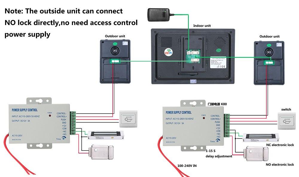 7 wired wifi vídeo porteiro porta telefone