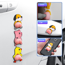 Car Sticker Cute Anime Butt Anti-Collision Anti-Scratch Protection Door Stickers Funny Side Rearview Mirror Bumper Stickers
