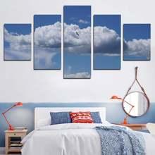 Природные пейзажи hd фотография Половина неба облака голубое