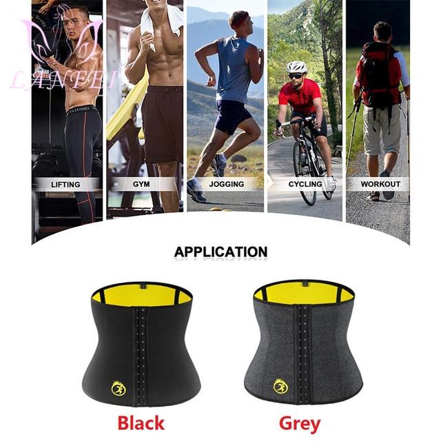 LANFEI Hot Neoprene Body Shaper Corset Men Thermo Sweat Waist Trainer Belt Weight Loss Workout Slimming Modeling Strap Vest Faja 3